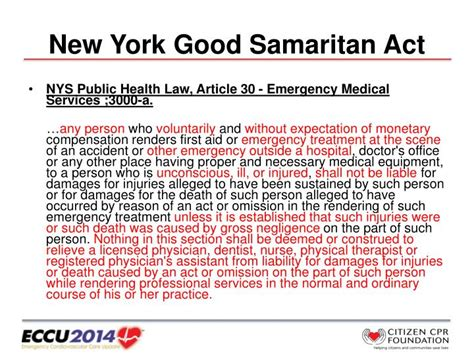 new york public health law section 18 ppt good samaritan laws the shocking truth powerpoint