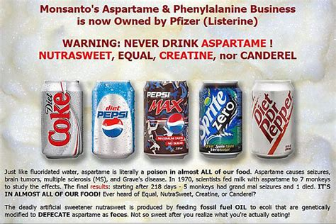 Spiritual Soft Drink by Diet Soda Aspartame Taste So Poison Revelation Now