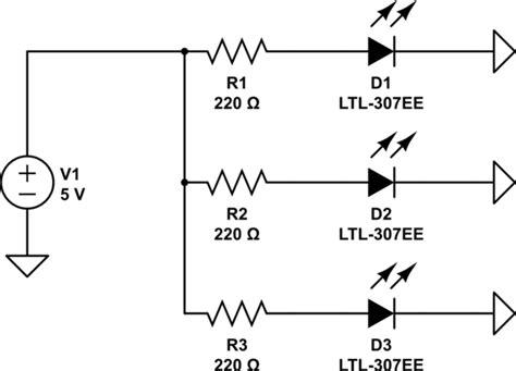 resistor for 5v to led similar led higher voltage drop less bright electrical engineering stack exchange