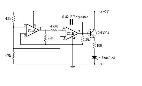 lm358 integrator circuit one led flasher circuit
