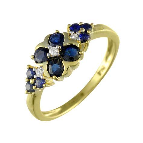 9 carat gold sapphire and ring h j johnson devizes