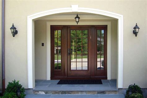 Transitional Style House by Entry Door With Sidelights Entry Craftsman With Floor Tile