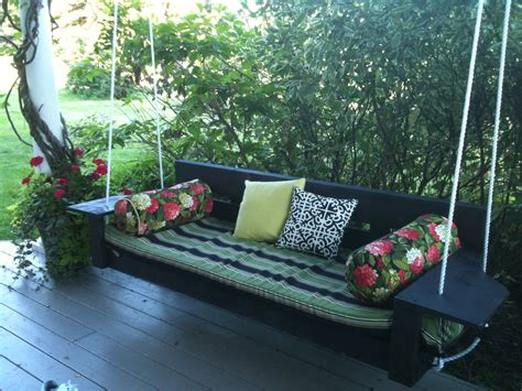 swing patio porch swing bed plans images