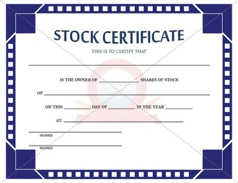 1000 images about stock certificate template on pinterest