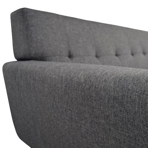charcoal grey tufted sofa 37 inmod inmod charcoal grey tufted lars sofa sofas