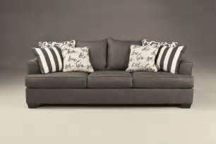 Levon Charcoal Sofa Signature Design By Ashley Levon Charcoal Queen Sleeper