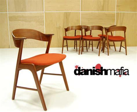 MID CENTURY DANISH MODERN 6 TEAK KAI KRISTIANSEN DINING