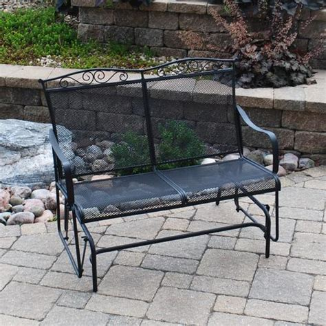 porch swings at menards backyard creations wrought iron glider at menards 174