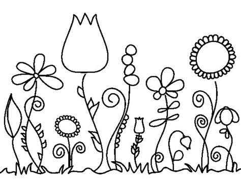 dibujos de flores para colorear y imprimir dibujo de flores del bosque para colorear dibujos net