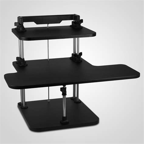 desktop adjustable stand up desk 3 tier adjustable computer standing desk height adjustable