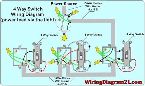 4 wire electrical wiring diagrams 4 way light switch wiring diagram house electrical