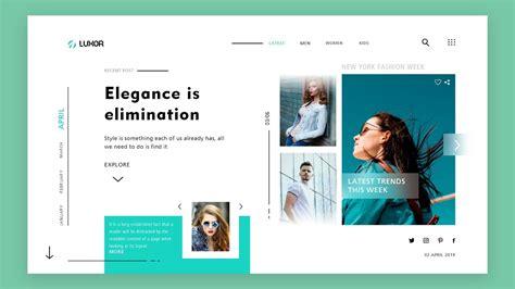 uiux design tutorial website ui design  adobe xd