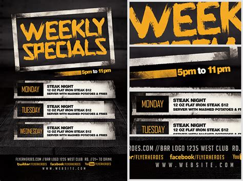 Weekly Specials Flyer Template Flyerheroes Specials Flyer Template