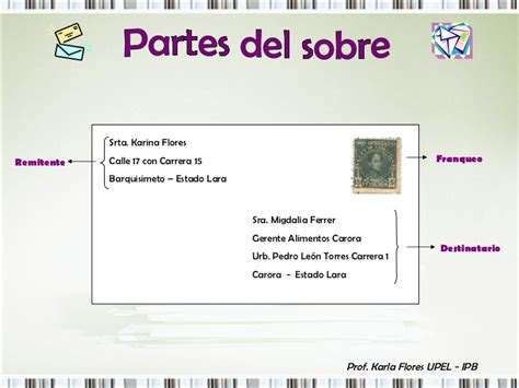 en una carta remitente y destinatario documentos de oficina