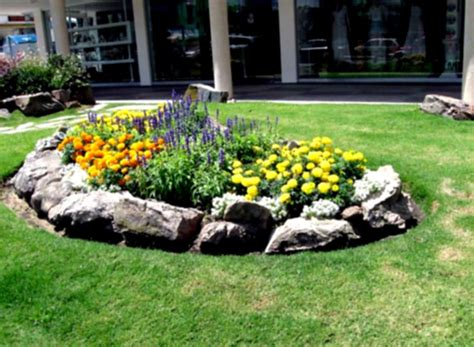 simple flower bed ideas desert landscaping ideas for front yard home decorating