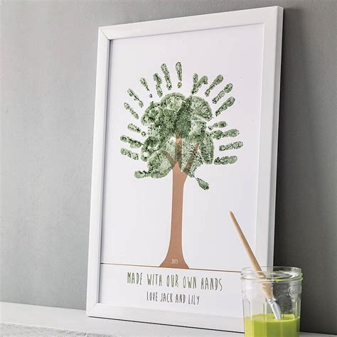 printable personalised poster personalised hand print tree poster by love those prints
