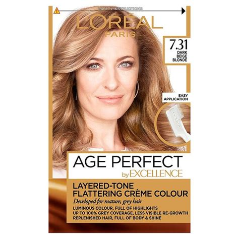 what hair colour age 61 l oreal paris excellence age perfect dark beige blonde 7
