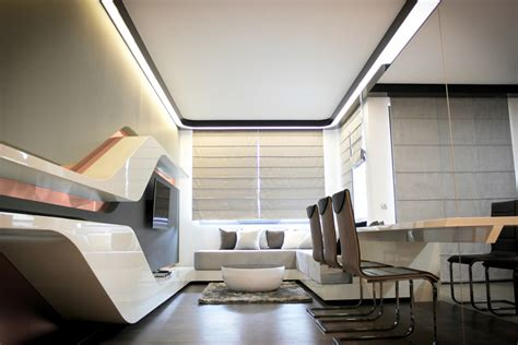 futuristic house interior futuristic apartment for high technologies lovers digsdigs