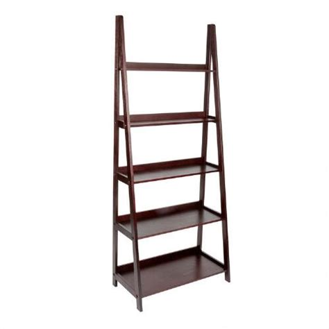wooden 5 tier ladder bookcase tree shops andthat