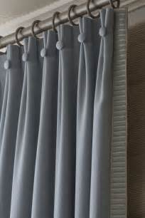 Window Drapes And Curtains Ideas The Button Drapery Pleats And Trim Window