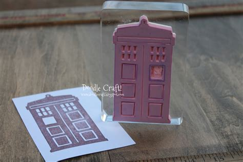 make a custom rubber st doodles by noodles diy doctor who sts