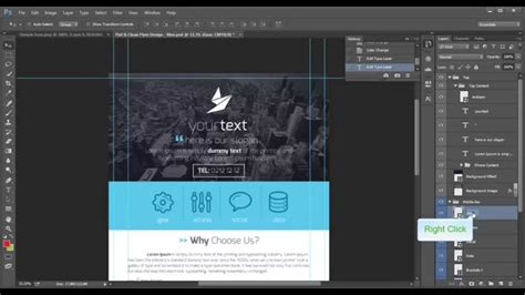 leaflet design tutorial photoshop flat clean flyer design photoshop tutorial youtube