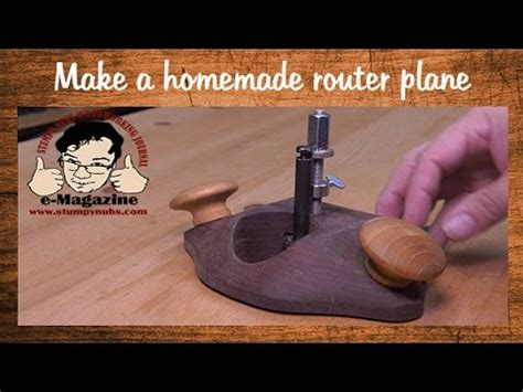 homemade fully featured woodworking router plane