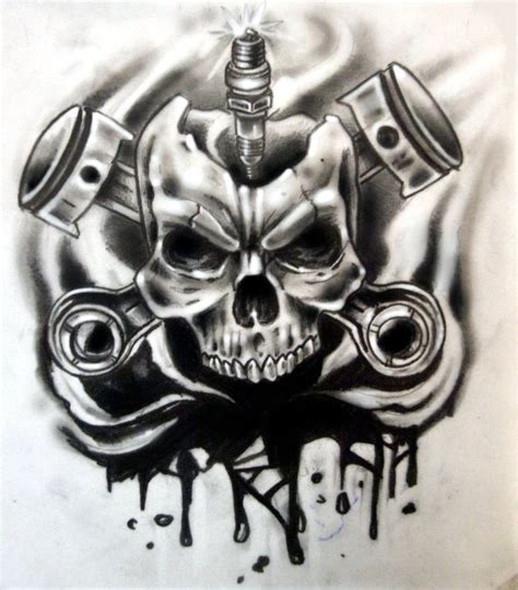 skull and piston tattoos best 25 mechanic ideas on engine