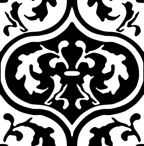 black and white moroccan pattern repeating pattern tile moroccan leaves the graphics fairy
