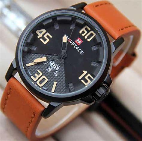 Naviforce Nf9094m Original Kulit Abu Abu Jam Tangan Pria Cowok jam tangan naviforce original number
