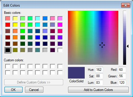 color picker tabs studio organizing visual studio