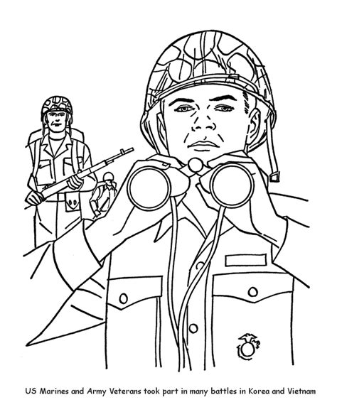 veterans day coloring page az coloring pages