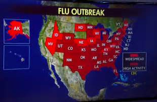 united states flu map freedom s lighthouse 187 flu reaching epidemic proportions