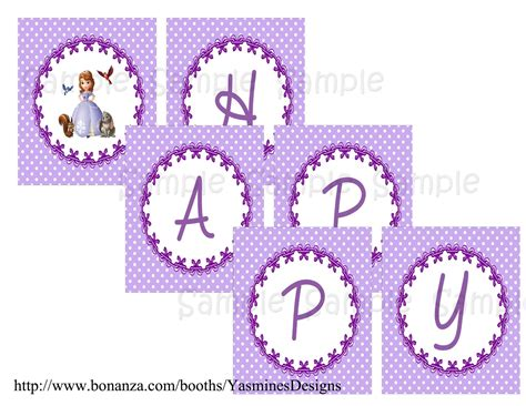 sofia the first printable birthday banner 9 best images of for sofia the first free printable
