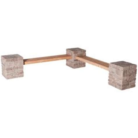 bench kits home depot pavestone rumblestone rumblestone 100 in x 24 5 in x 14
