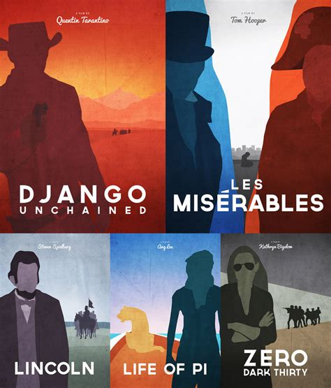 film oscar nominations 2013 fan made oscar nominated movie poster art geektyrant