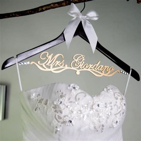 Bridesmaid Gift, Personalized Wedding Hanger, Wooden