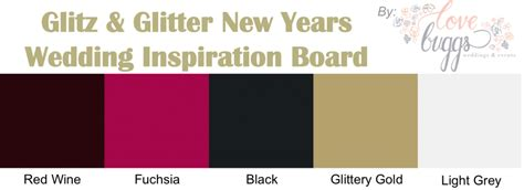 new year color palette glitz glitter new years wedding inspiration color