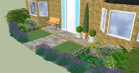 garten 3d design for a small front garden in longstanton garden