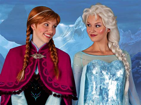 film elsa and anna anna and elsa to begin quot frozen quot character meet and greets