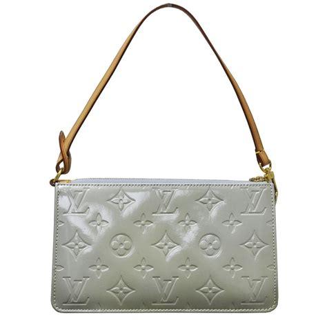 Louis Vuitton Monogram Motard Clutch by Louis Vuitton Green Patent Leather Monogram Vernis Handbag