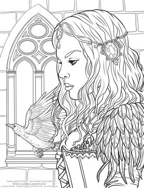 fantasy coloring adventure a 166 best dark coloring images on coloring books coloring pages and vintage coloring