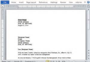 resignation letter format best microsoft word resignation