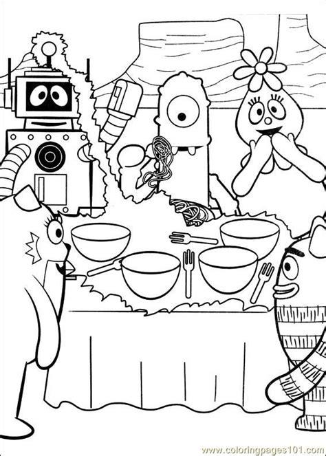yo gabba gabba coloring pages games yo gabba gabba 12 coloring page free miscellaneous