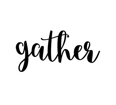 Black White And Gold Home Decor by Gather Vinyl Wall Decal Gather Sign Wall Decor Kitchen