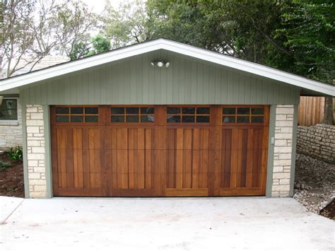 real wood overhead garage doors rustic garage and shed