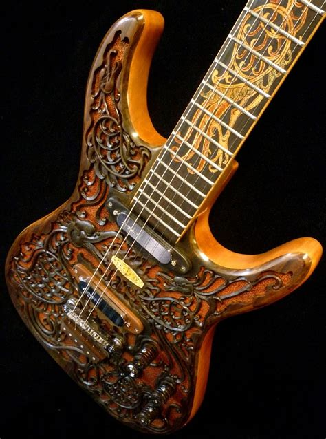 Custom Handmade Electric Guitars - crafted blueberry quot hawk quot carved electric guitar by