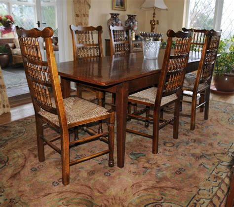 oak kitchen table set oak kitchen dining set refectory table spindleback chairs set