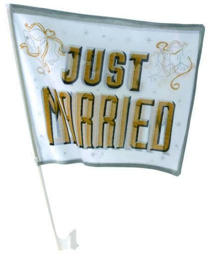 Just Married Fahnen F Rs Auto by 6 X Autofahne Just Married Gold Wohnen Feste Feiern Hochzeit