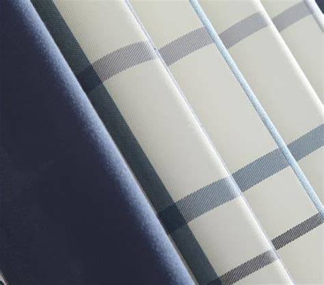blue and white print curtains blue and white plaid print linen cotton blend modern